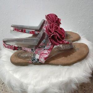 Aerosoles Slingback Thong Flower Pink Sandals